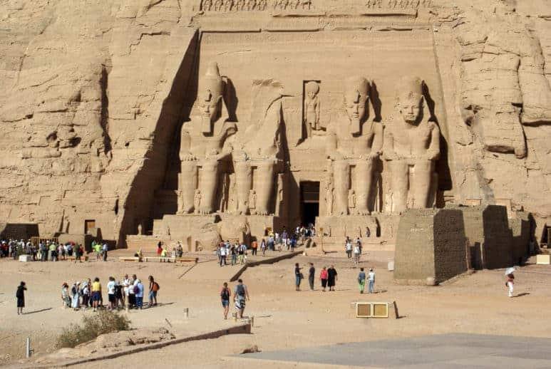 King Ramses II in Abu Simbel Temple