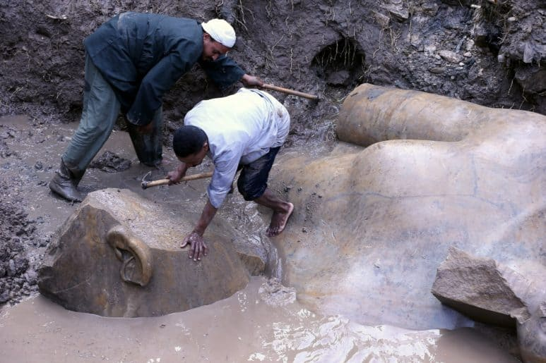 King Ramses II New Statue Recently Found in Cairo