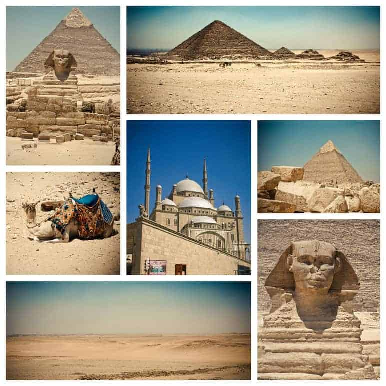 Egyptians built lots of old Pyramids