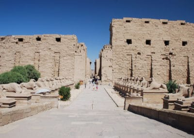 Huge ancient temple complex at sightseeing holidays in Egypt