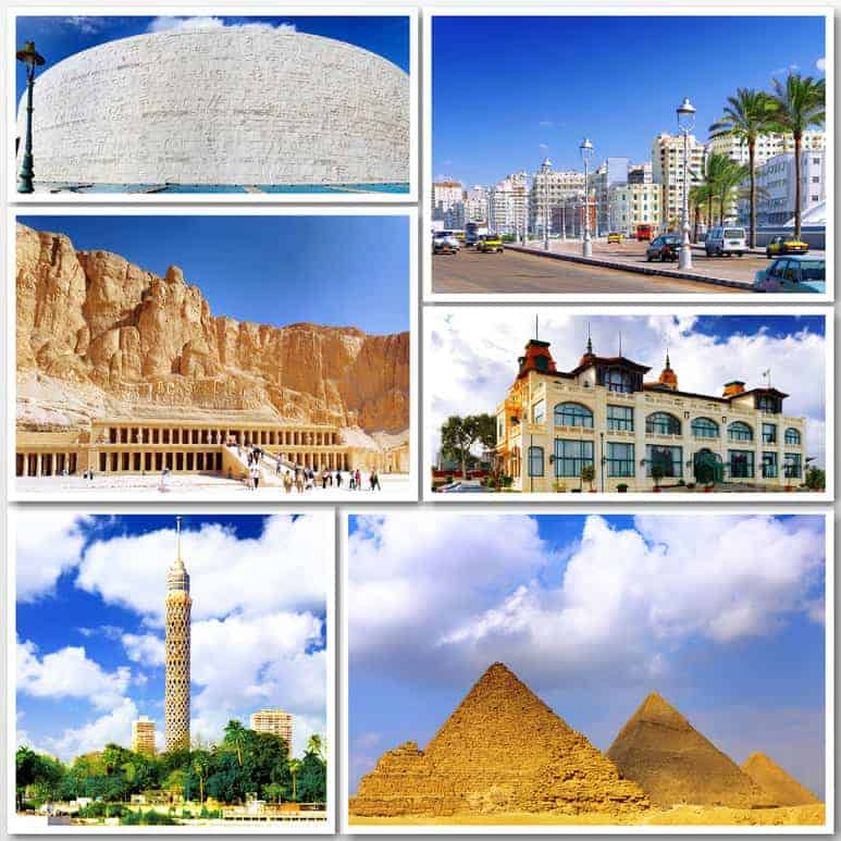 Collage of beautiful Egypt