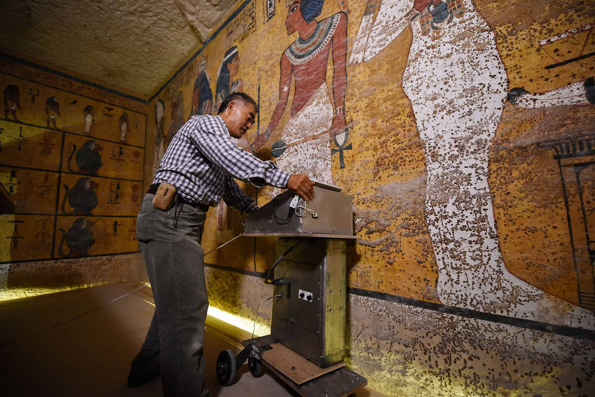 Scans looking for Queen Nefertiti inside King Tut's tomb