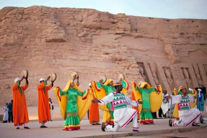 The Sun Feast in Abu Simbel Temple