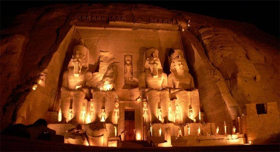Abu Simbel Temple at Night