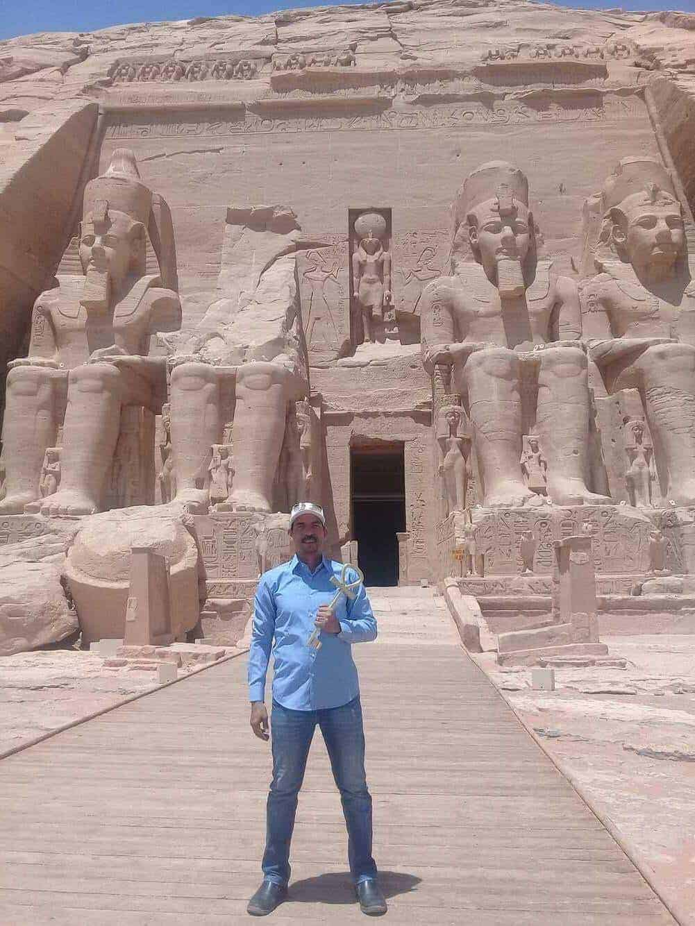 Our Guide Sam in Abu Simbel Temple