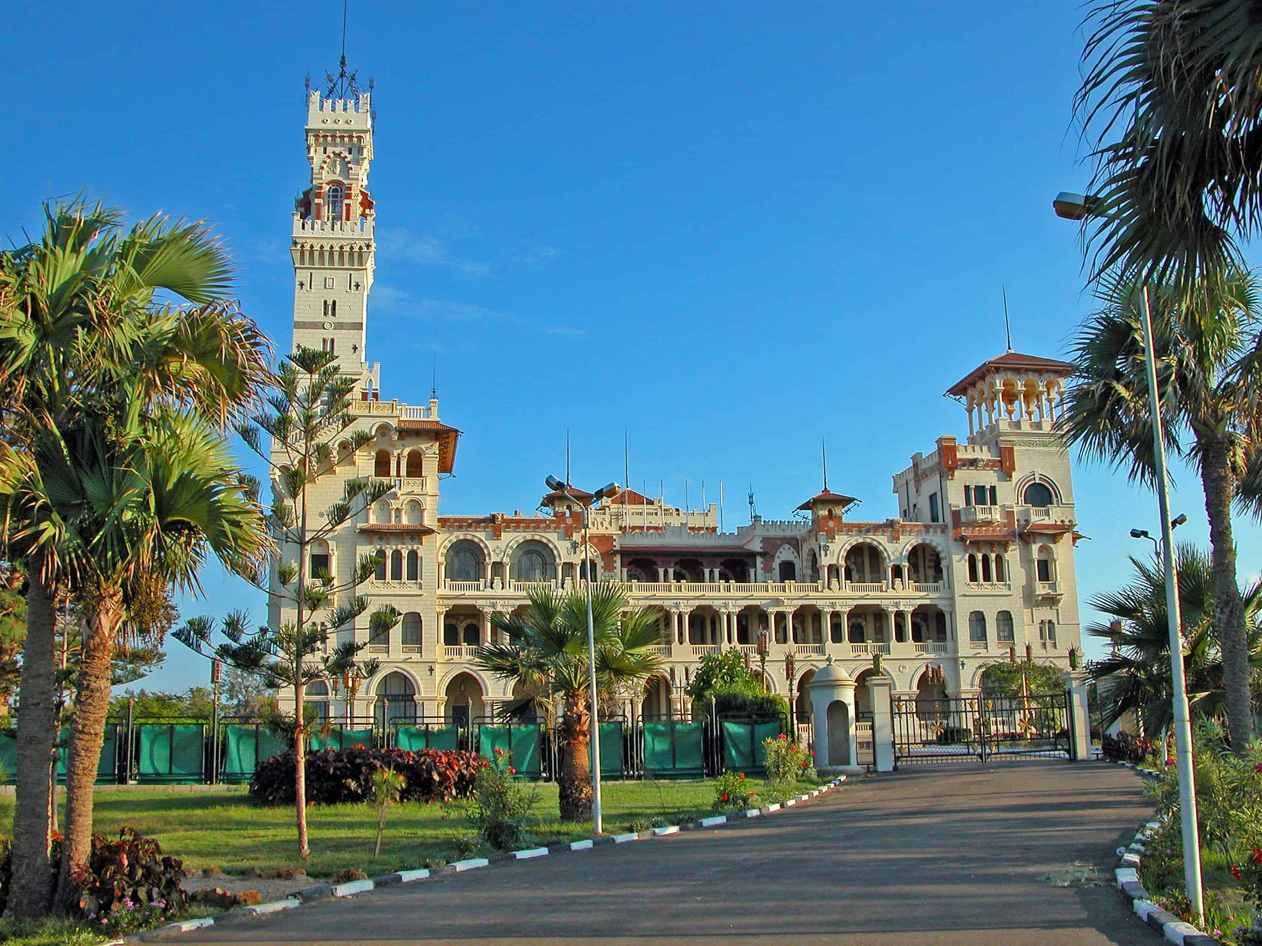 Montazah Palace Gardens are always on top of sights in Alexandria list