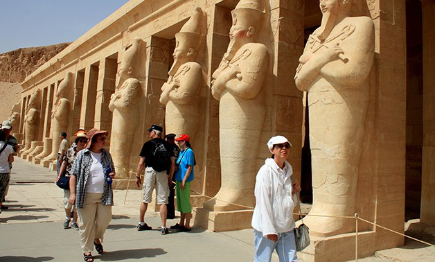 Travelers in Queen Hatshepsut Temple