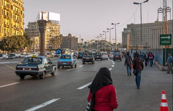 Crossing the Streets in Egypt
