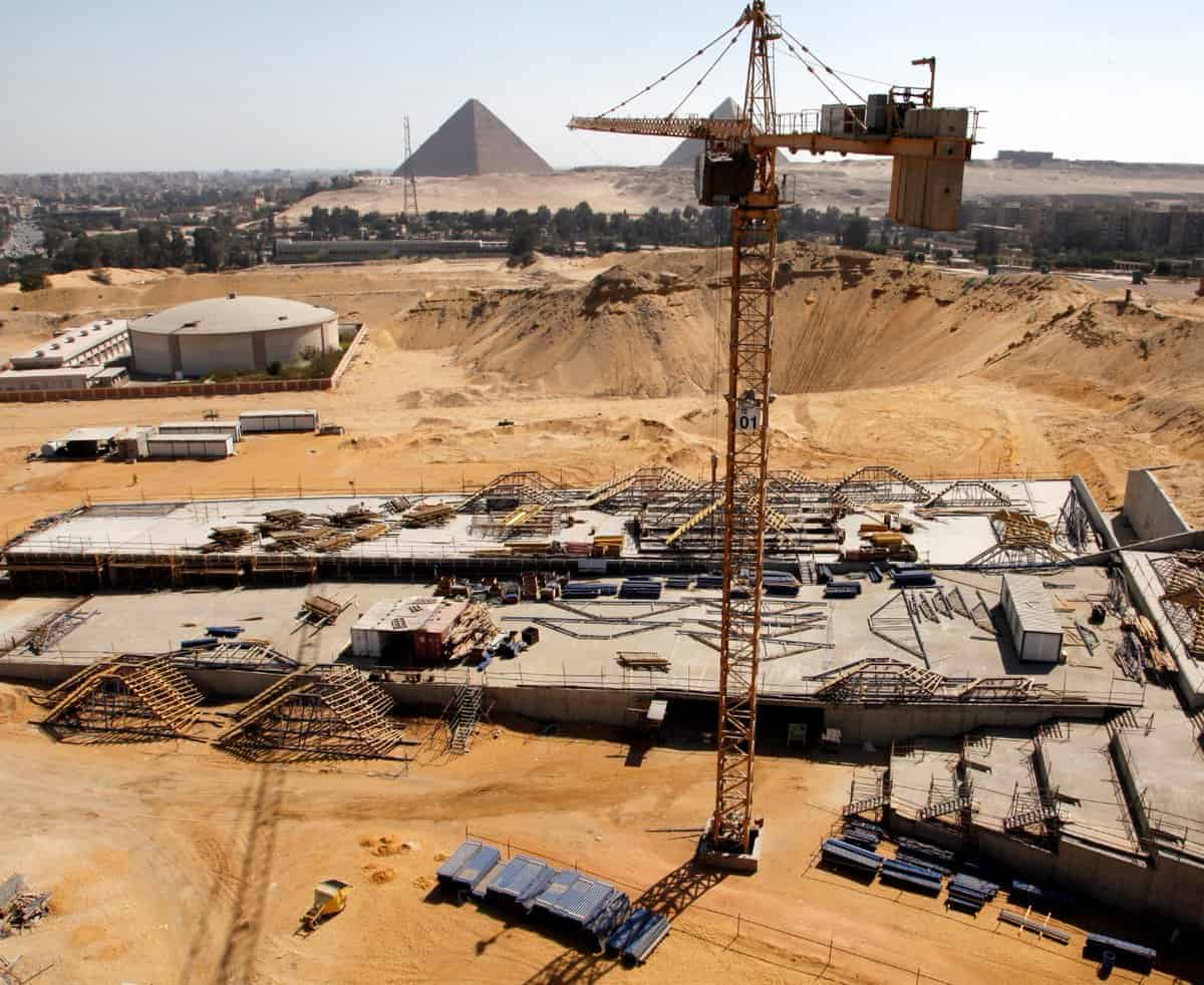 Consturctions of the Grand Egyptian Museum