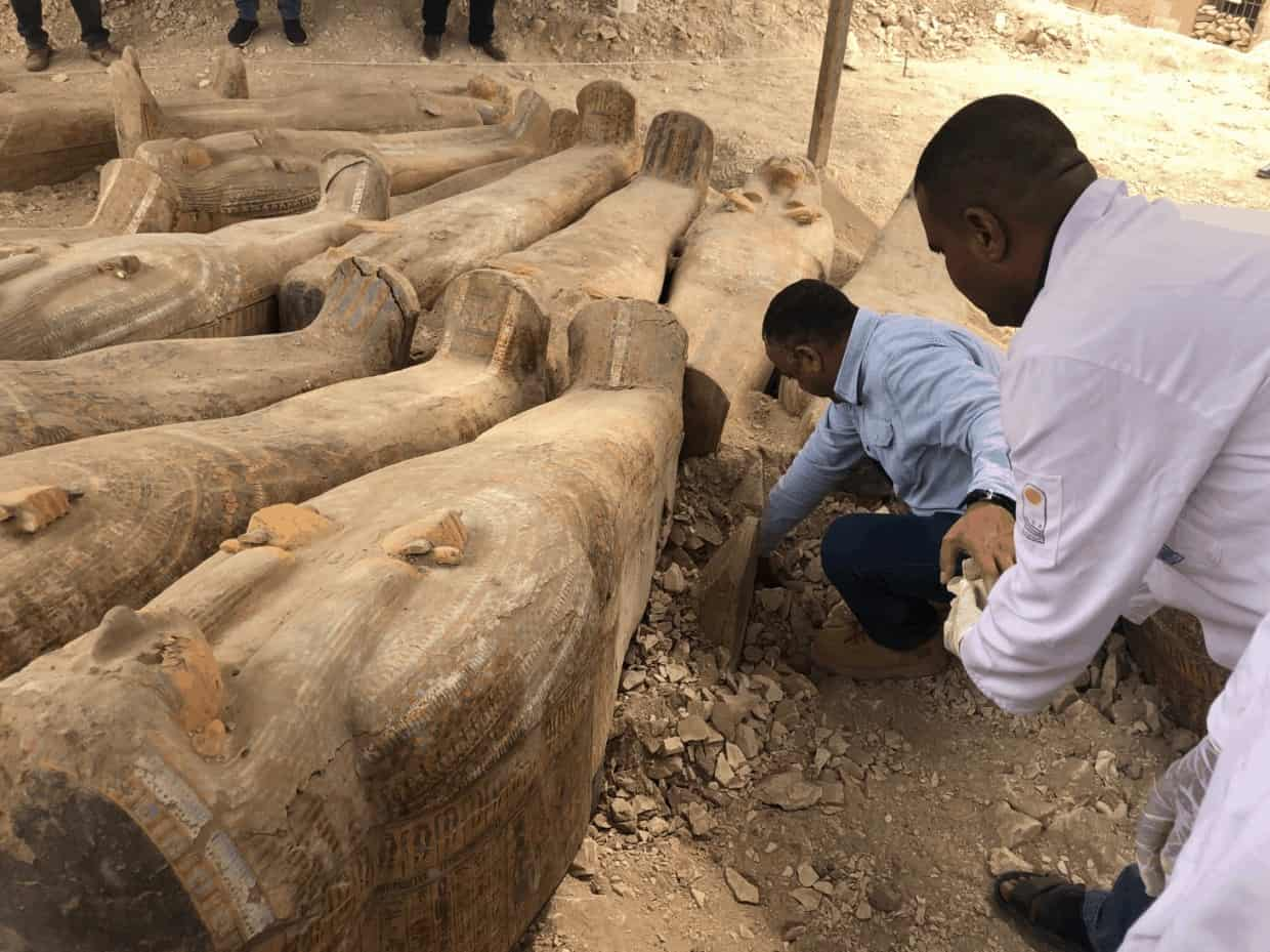 They found about 20 wooden coffins - Photo Credit: News Yahoo