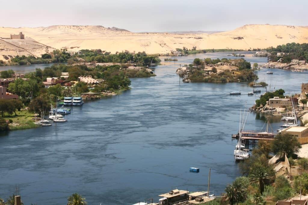 The River Nile in Aswan, Egypt