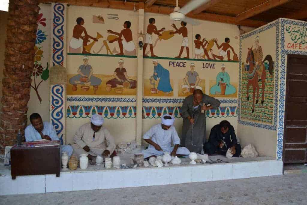 Alabaster making in the West Bank of Luxor