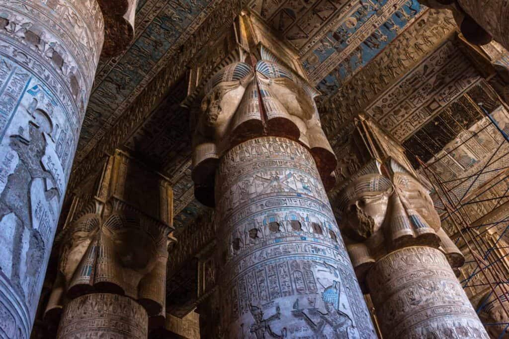 Dendera temple in Upper Egypt