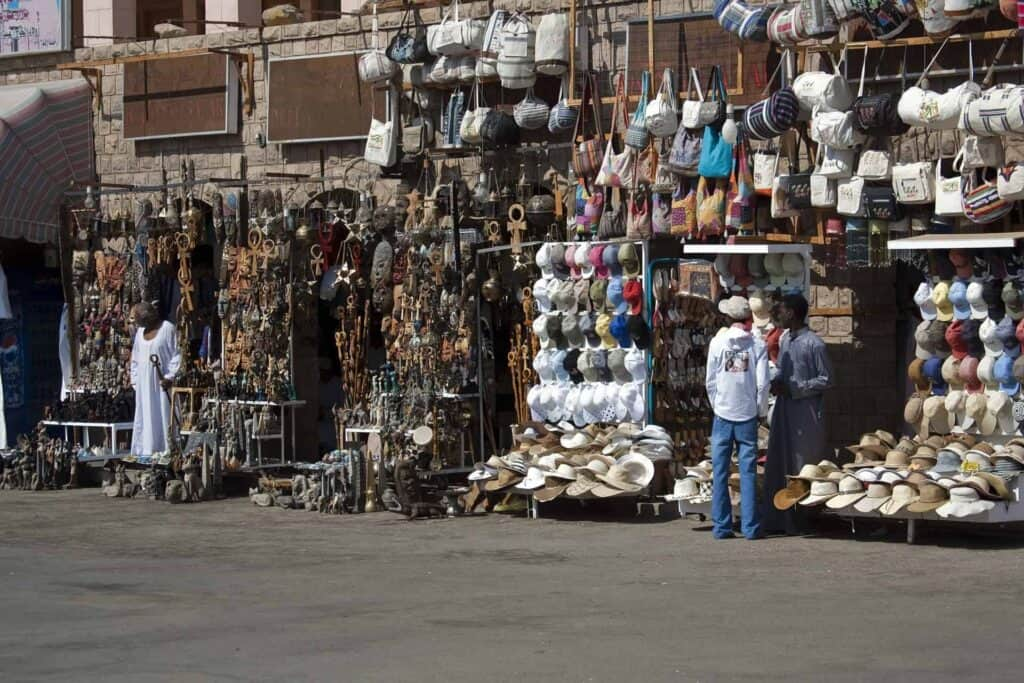 Local market in Egypt