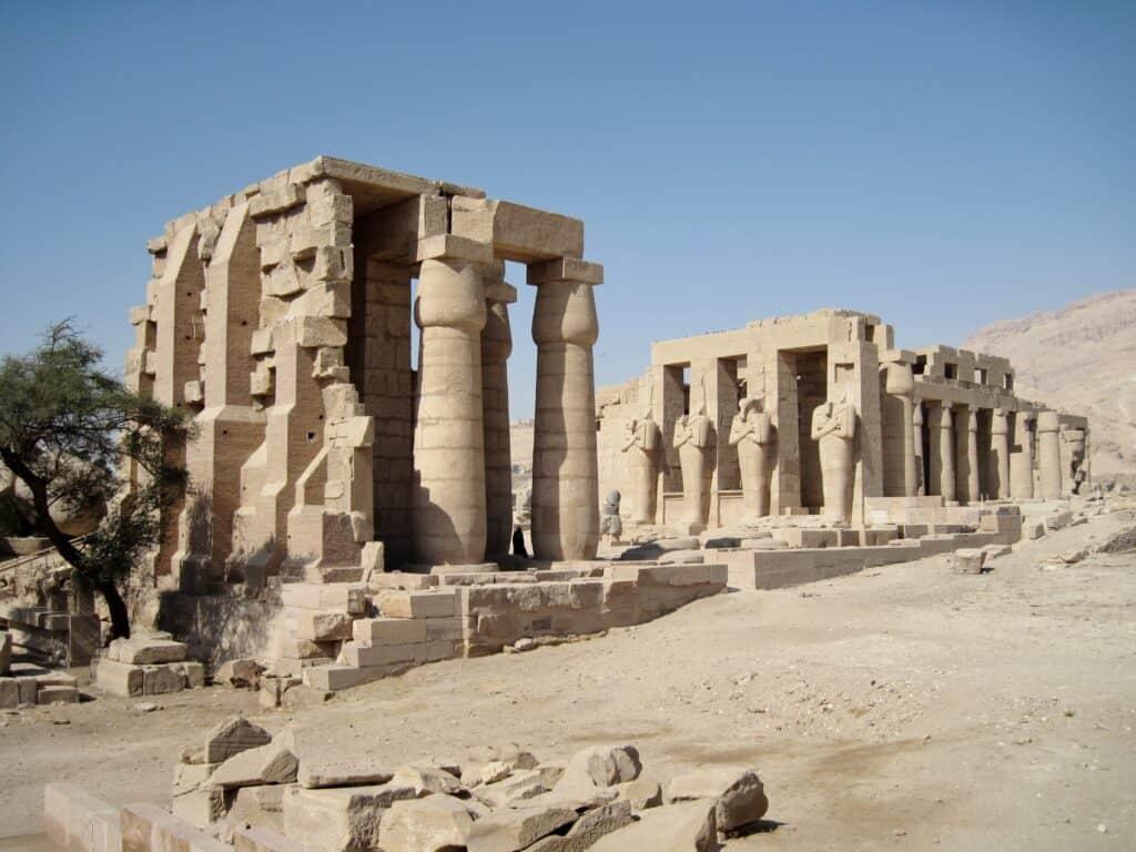 Ramesseum, Theban Necropolis in Upper Egypt