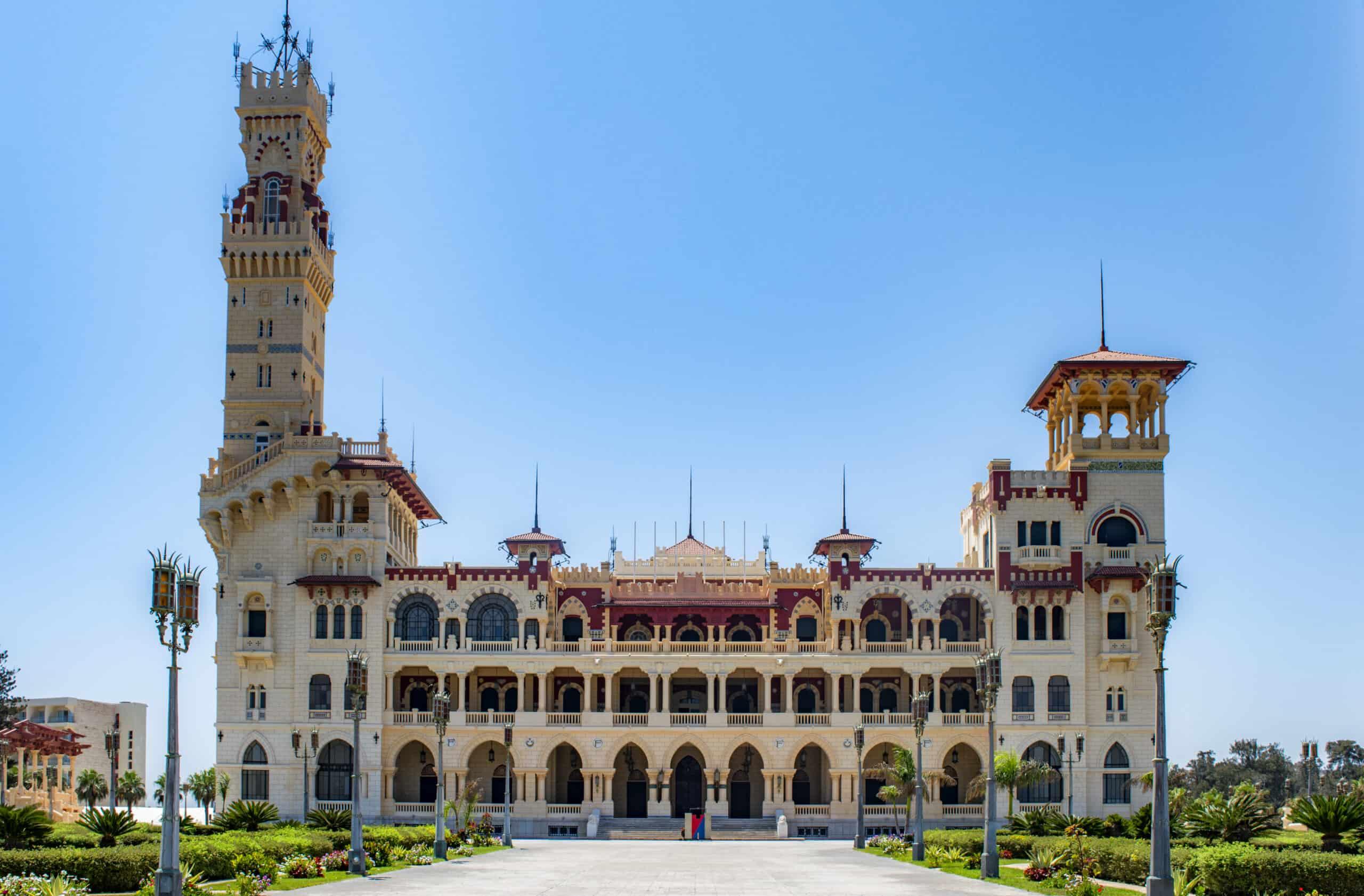 The Al-Haramlik Palace at the Al-Montaza royal gardens, Alexandria, Egypt