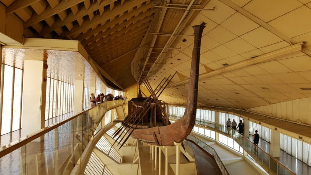 The Khufu ship at the Giza Solar boat museum