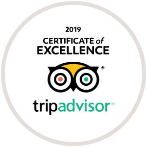 Tripadvisor Certificate of Excellence 2019 Badge