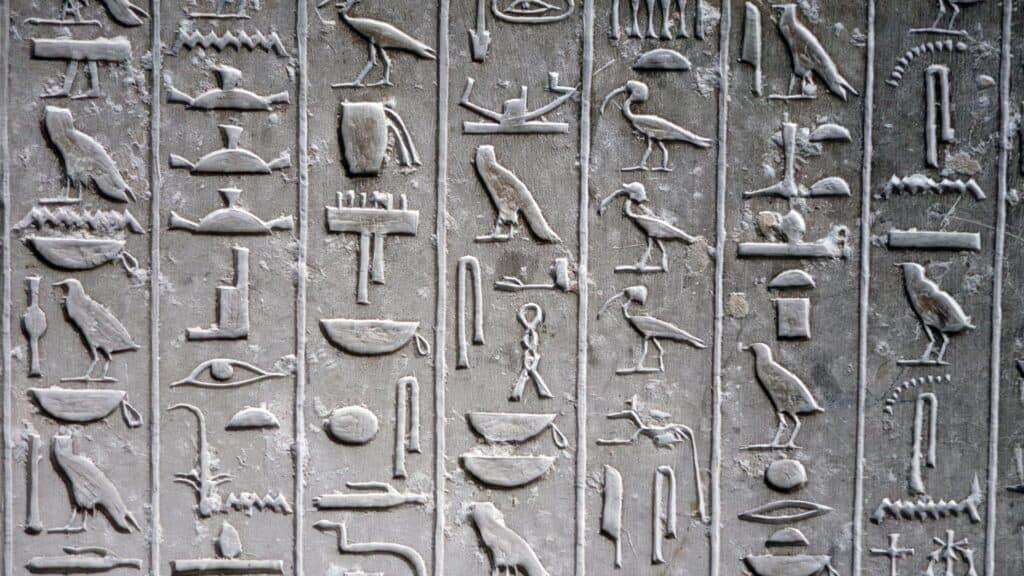 Hieroglyph, Saqqara, Egyp