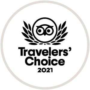 Tripadvisor Travelers Choice Badge 2021